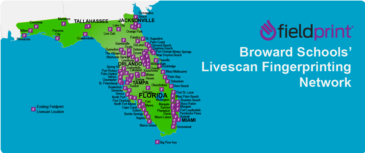 Florida's Livescan locations